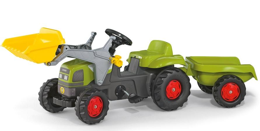 Rolly Toys - Tractor excavator cu remorca 023905