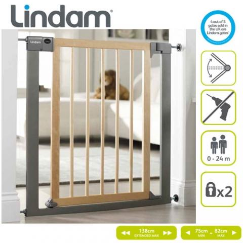 Lindam - Poarta de siguranta Shure Shut Deco