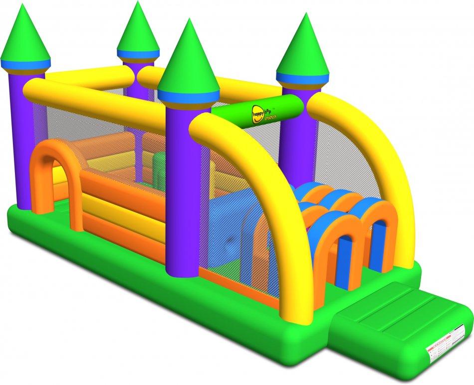 Happy Hop - Saltea gonflabila profesionala Castel cu obstacole