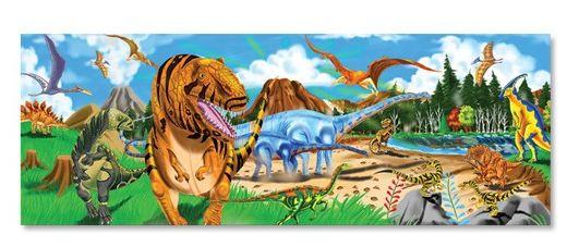 Melissa&Doug - Puzzle de podea Taramul Dinozaurilor 48 pcs