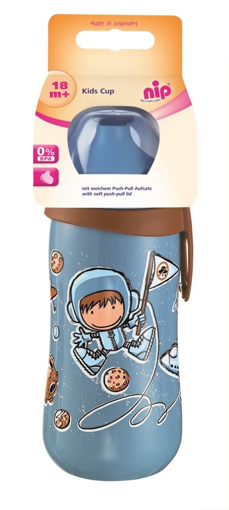 Nip - Cana Kids Cup cu clip de prindere 330ml antipicurare 18 luni
