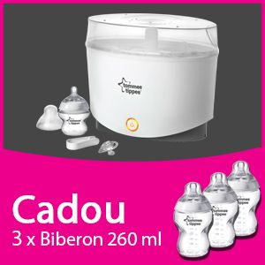 Tommee Tippee - Sterilizator electric  Cadou 3xBiberoane 260 ml PPx3 buc