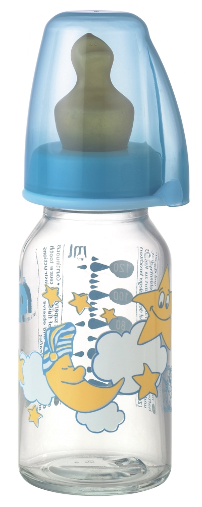 Nip - Biberon sticla 125ml cu tetina latex pentru ceai nr 1