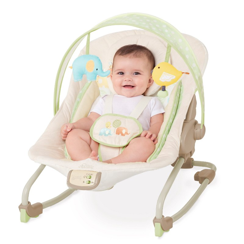 Bright Starts - Balansoar 2 in 1 Elepaloo Rocker