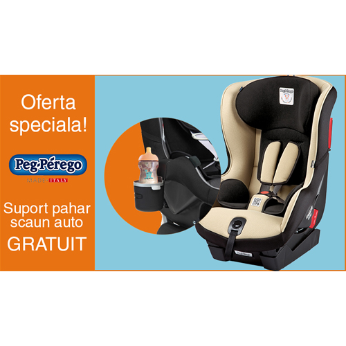 Peg Perego - Scaun Auto Viaggio1 Duo Fix K 0-18 KG + Suport Pahar PROMO