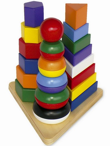 Legler - Piramida Montessori 3 in 1