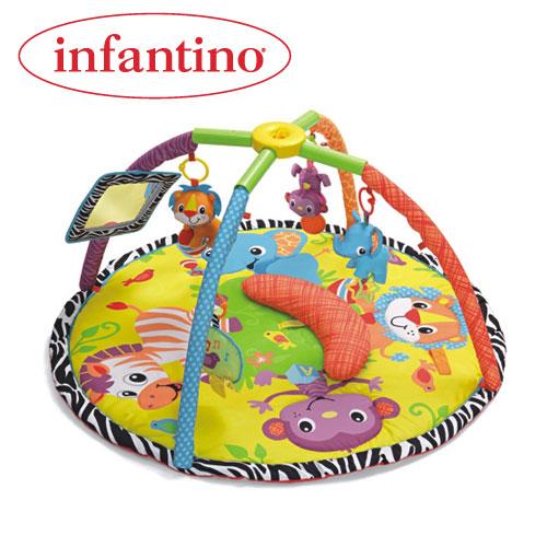 Infantino - Salteluta de activitati invarte si pliaza Baby Animals