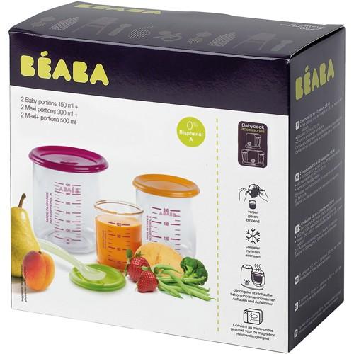 Beaba - Set 6 recipiente ermetice pentru hrana