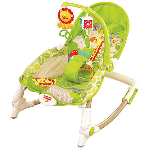 Fisher-Price - Balansoar 2 in 1 Newborn to Toddler Rainforest Friends