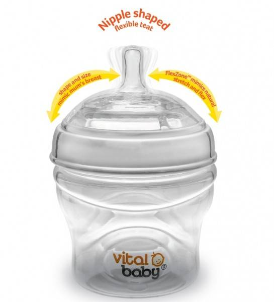 Vital Baby - Biberon Breast-like - 240ml x2, 0 luni