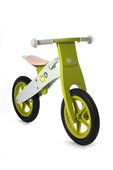 KinderKraft - Bicicleta din lemn fara pedale Runner Deluxe