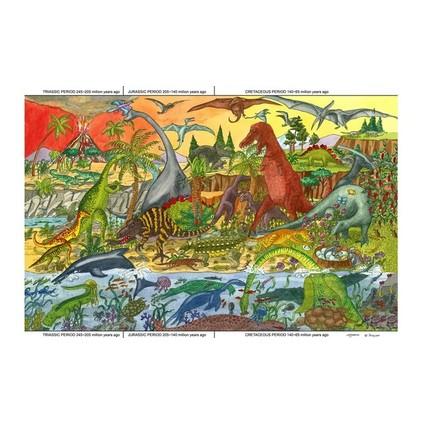 Big Jigs - Puzzle lemn cu dinozauri 192 de piese