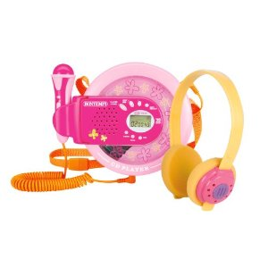 BonToys - CD player cu microfon dual pentru fete