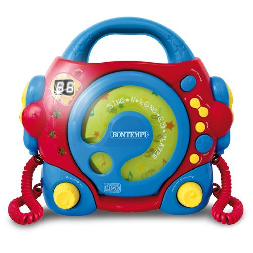Bontempi - CD Player Portabil cu 2 Microfoane