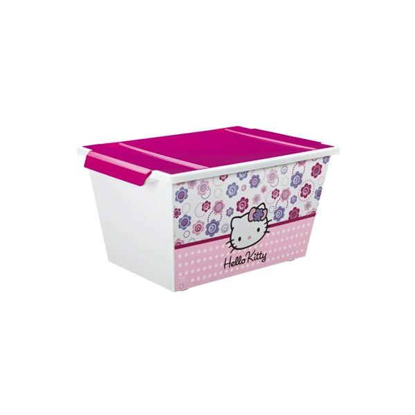 Rotho - Cutie depozitare cu role Hello Kitty 45L