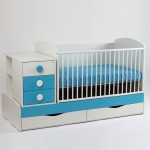 Bebe Design - Patut Transformabil Silence cu leganare pastel