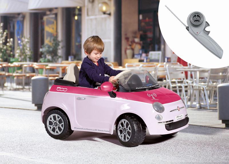 Peg-Perego - Masinuta Fiat 500 cu telecomanda