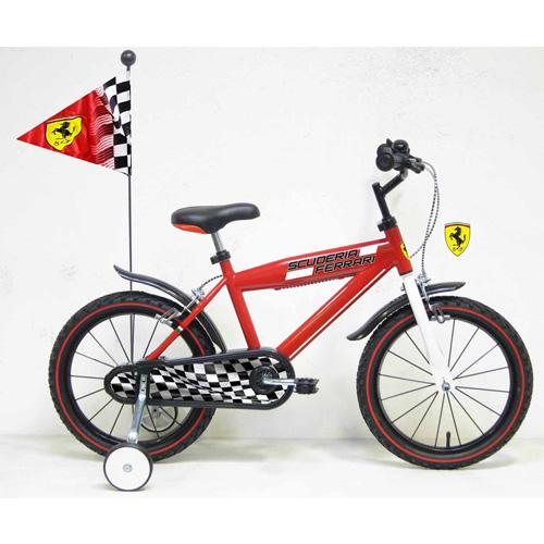 Denver - Bicicleta Ferrari 16 cu steag si casca