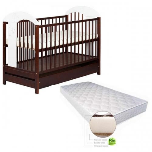 Baby Dreams - Patut Comfort cu saltea Gryko kokos
