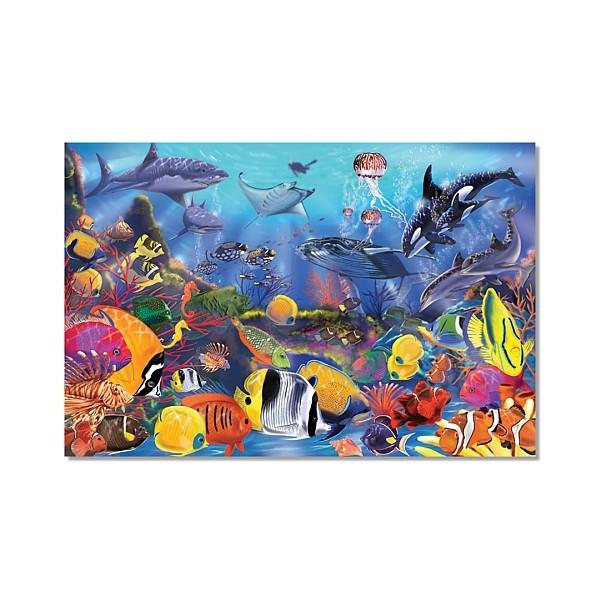 Melissa&Doug - Puzzle de podea Viata subacvatica