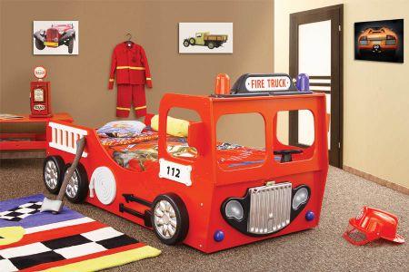 Plastiko - Patut pentru copii Fire Truck
