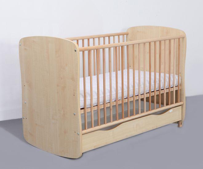 MyKids - Patut lemn Karolina cu sistem de leganare + Saltea