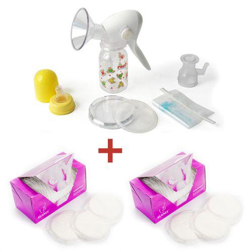 Reer - Pompa manuala + Protectii pentru sani Cadou