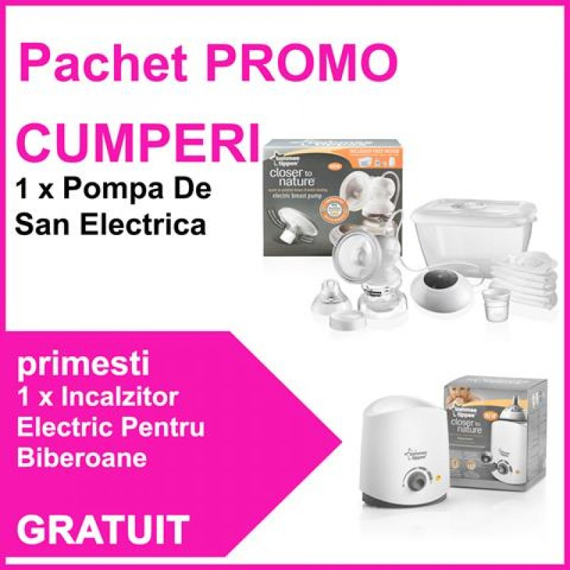 Tommee Tippee - Pompa de san electrica + Incalzitor electric