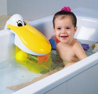 Kids Kit - Saculet pentru jucariile de baie Pelicanul Jucaus