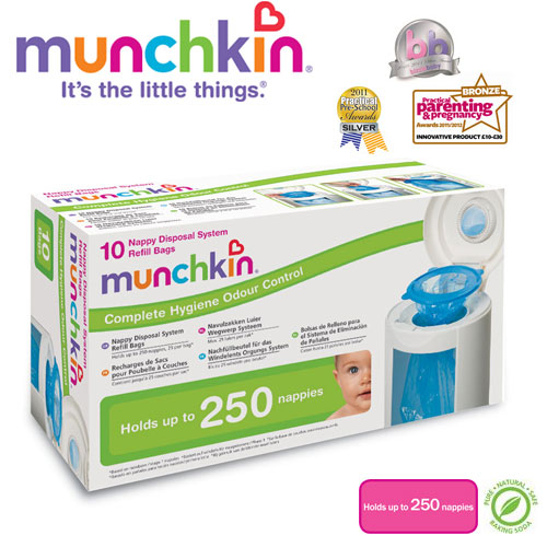 Munchkin - Set 10 rezerve pentru Cosul Nappy Disposal System