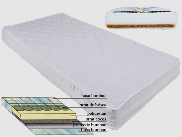 MyKids - Saltea Cocos/Burete/Hrisca 120/60/12 cm