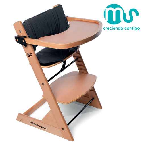 Innovaciones - Scaun masa din lemn Advance 2 in 1 cu husa