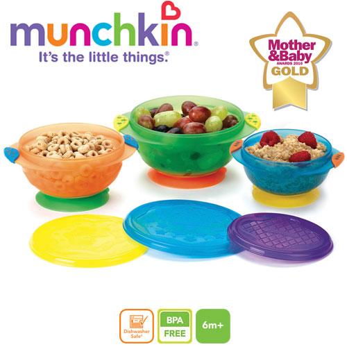 Munchkin - Set 3 castroane cu ventuza