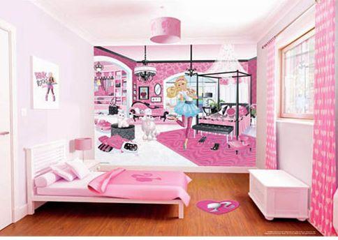Walltastic - Tapet pentru copii Barbie