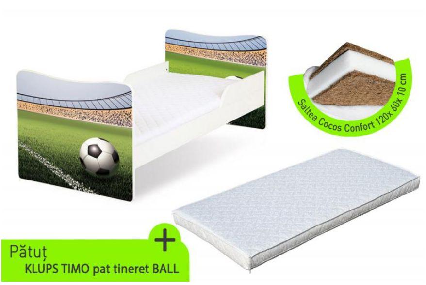 Klups - Pat Copii Tineret Timo Ball + Saltea cocos