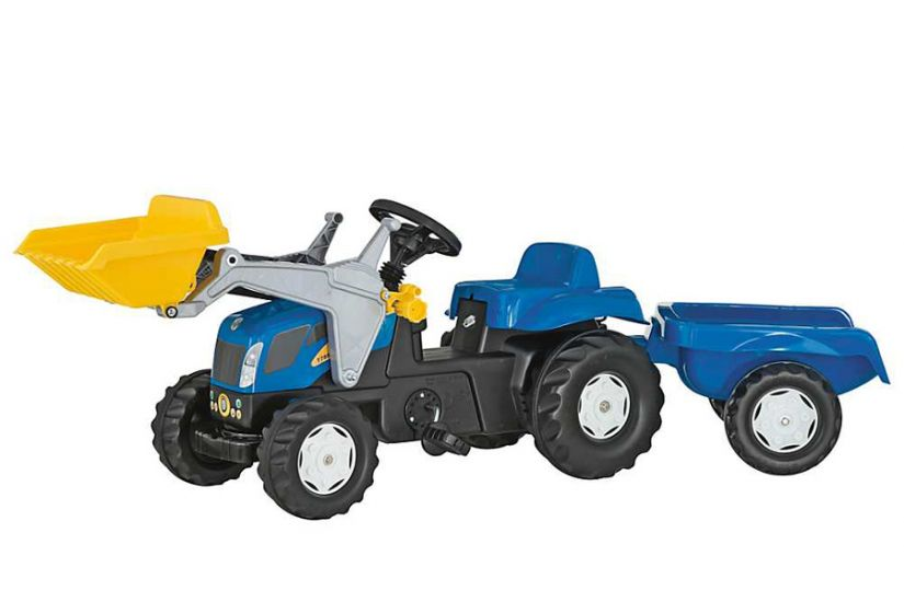 Rolly Toys - Tractor excavator cu remorca 023929