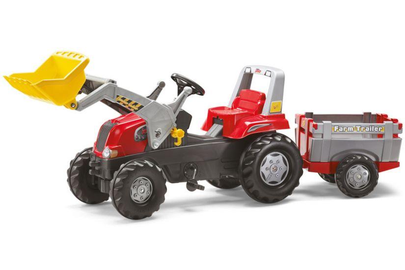Rolly Toys - Tractor excavator cu remorca 811397
