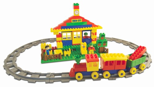 A. Haberkorn - Set de constructie cu figurine Tren