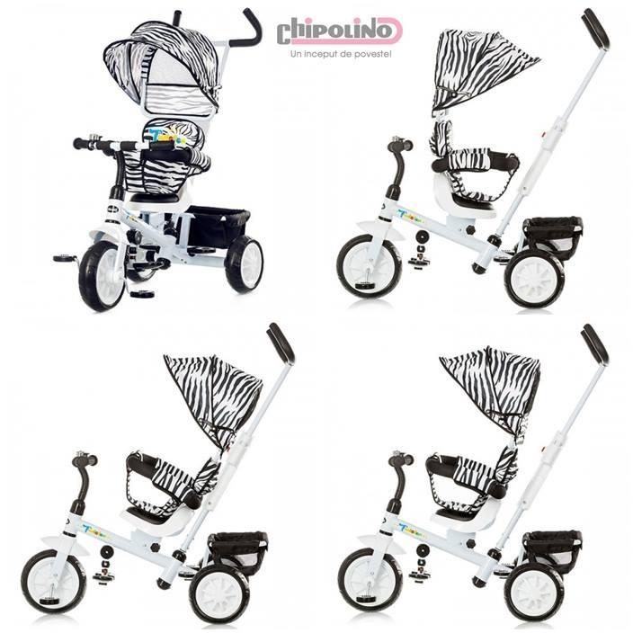 Chipolino - Tricicleta cu copertina si sezut reversibil Twister