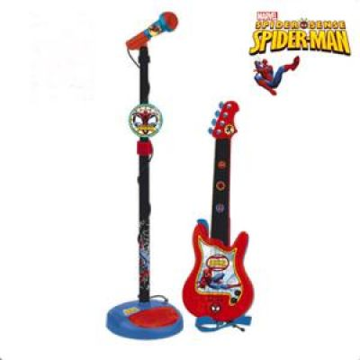 Reig Musicals - Set chitara si microfon Spiderman