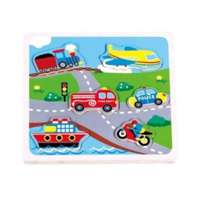 Puzzle transport cu sunete - New Classic Toys