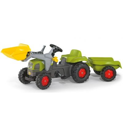 Rolly Toys - Tractor excavator cu remorca 023905