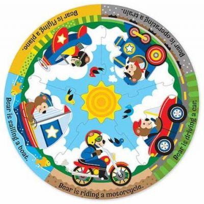 Melissa&Doug - Puzzle de podea circular Vehicule