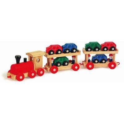 Legler - Trenulet cu platforma si masinute
