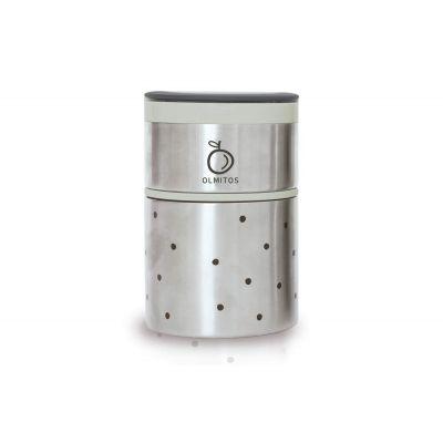 Olmitos - Termos mancare solida cu doua recipiente independente 250+570 ml bej