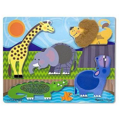 Melissa&Doug - Puzzle lemn atinge si descopera Zoo