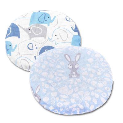 Set 2 pernute anticolici cu samburi cirese Kidizi Bunny & Elephants Blue, albastru, 19 cm