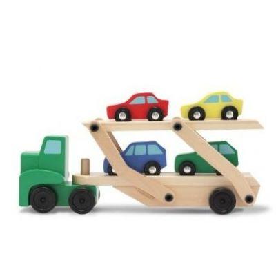 Melissa&Doug - Camion Transportor de Masini