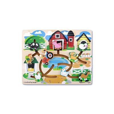 Melissa&Doug - Joc de lemn Ferma Labirint