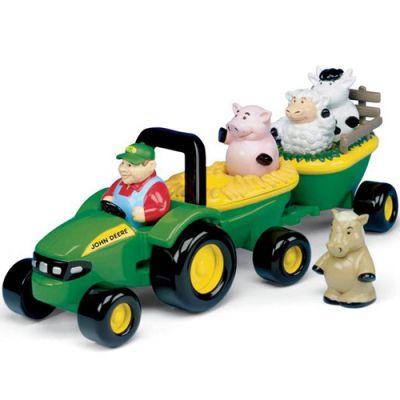 Tomy - Tractor John Deere cu animale si sunete